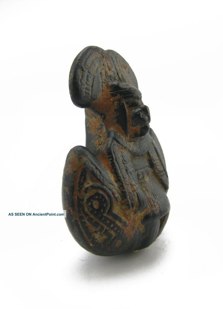 Across The Puddle Pre - Columbian Pottery - Tairona Chieftain Whistle Replica Latin American photo