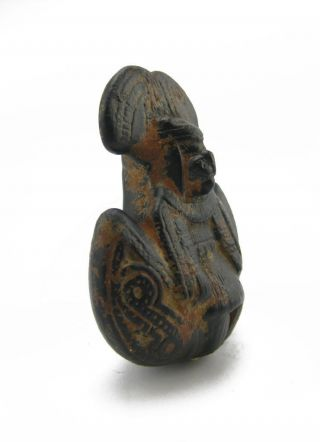 Across The Puddle Pre - Columbian Pottery - Tairona Chieftain Whistle Replica photo