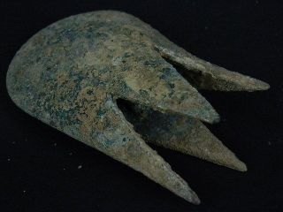 Ancient Bronze Mace Head Bactrian 300 Bc S3410 photo