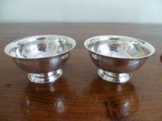 2 Small Silver Bowls By Commonwealth Silver Plate photo