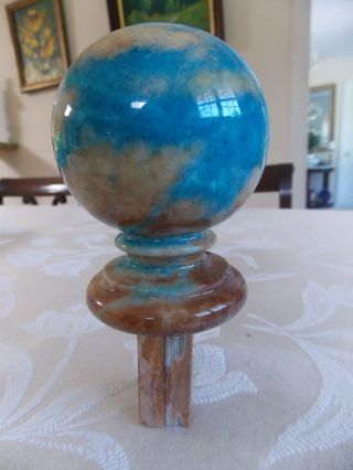 Finial Multicolor Of Stone For A Newel Post? photo