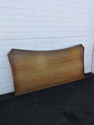 Long Vintage Mid - Century Modern King Size Headboard 6682 photo