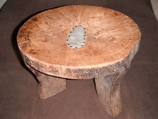 African,  Antique,  Hand Carved,  Wooden Stool,  Ethiopian photo