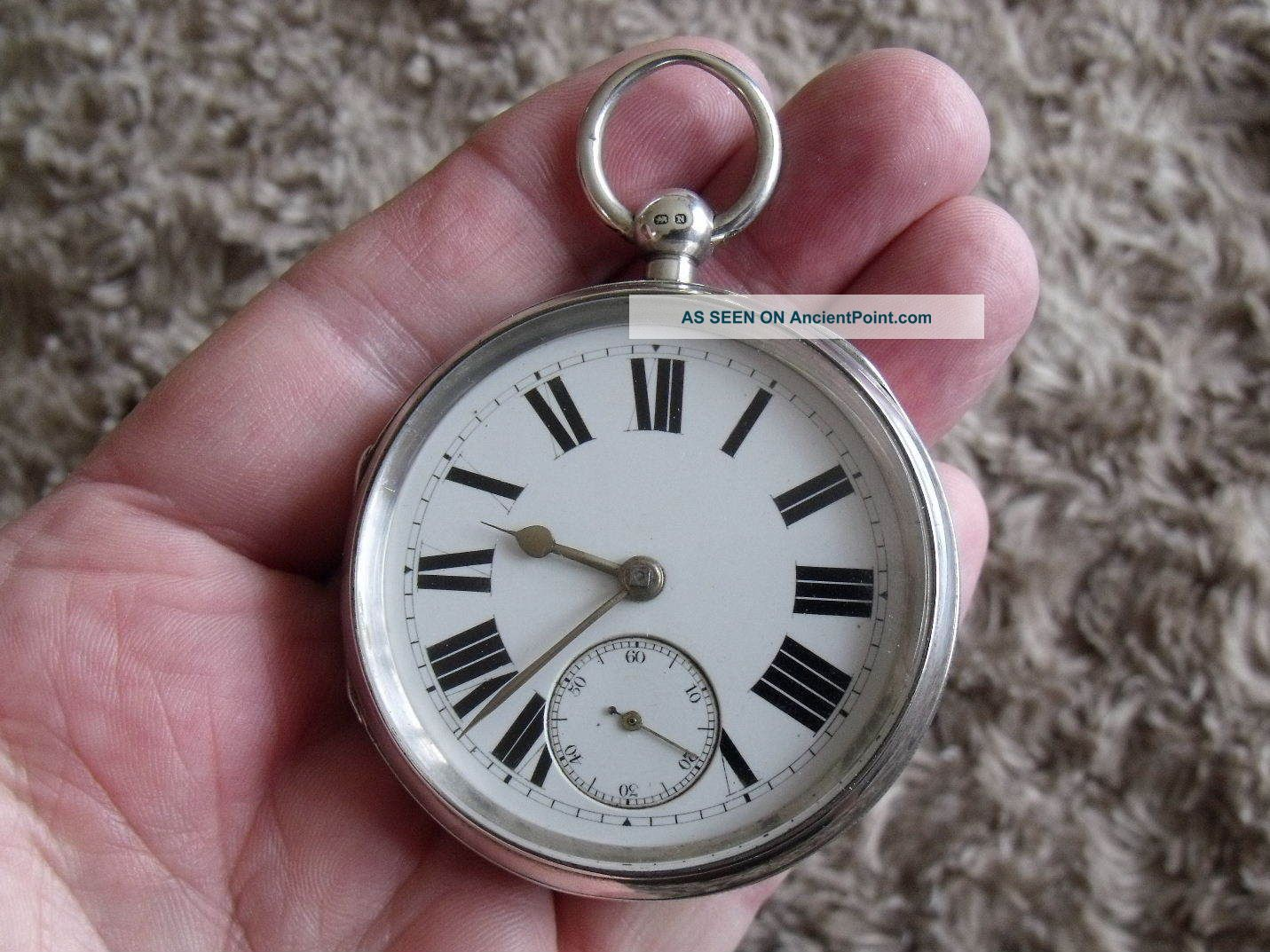 Large Silver English Lever Pocket Watch ' Lancs.  Watch Co.  ' 1896/7 Pocket Watches/ Chains/ Fobs photo