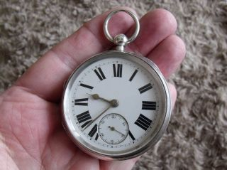 Large Silver English Lever Pocket Watch ' Lancs.  Watch Co.  ' 1896/7 photo