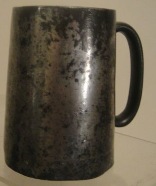 Victorian Era 1/2 Pint Pewter Tankard photo