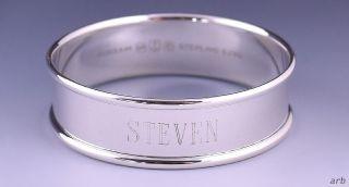 Classy Vintage Gorham Sterling Silver Napkin Ring Engraved Steven photo