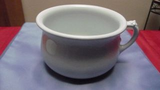 Vintage Johnson Brothers England Chamber Pot With Lid - Royal Ironstone China photo