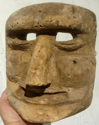 Face Mask: Carved Wood,  Early 19th Century,  Northern York State photo