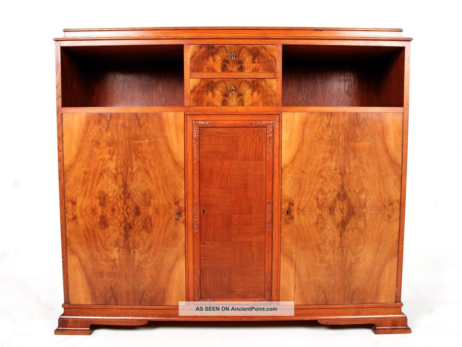 Antique Biedermeier Sideboard Swedish Highboard Credenza Bookcase Fine Quality W 1900-1950 photo