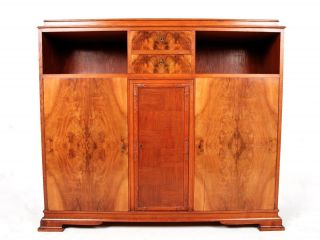 Antique Biedermeier Sideboard Swedish Highboard Credenza Bookcase Fine Quality W photo