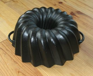 Very Rare Very Big Old Antique Cast Iron Bundt Pan Germany 4084 G photo