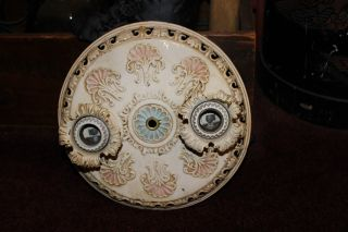 Antique Victorian Ceiling Mounted Lighting Fixture - Lighting Fitments Mfg.  Co. photo