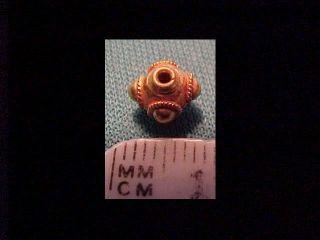 Sassanian Ornate Gold Bead Circa 400 - 700 Ad photo