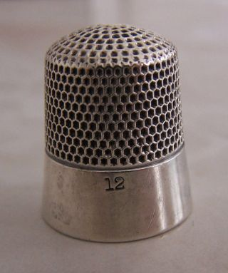 Antique Ketcham & Mcdougall Sterling Silver Thimble Size 12 photo