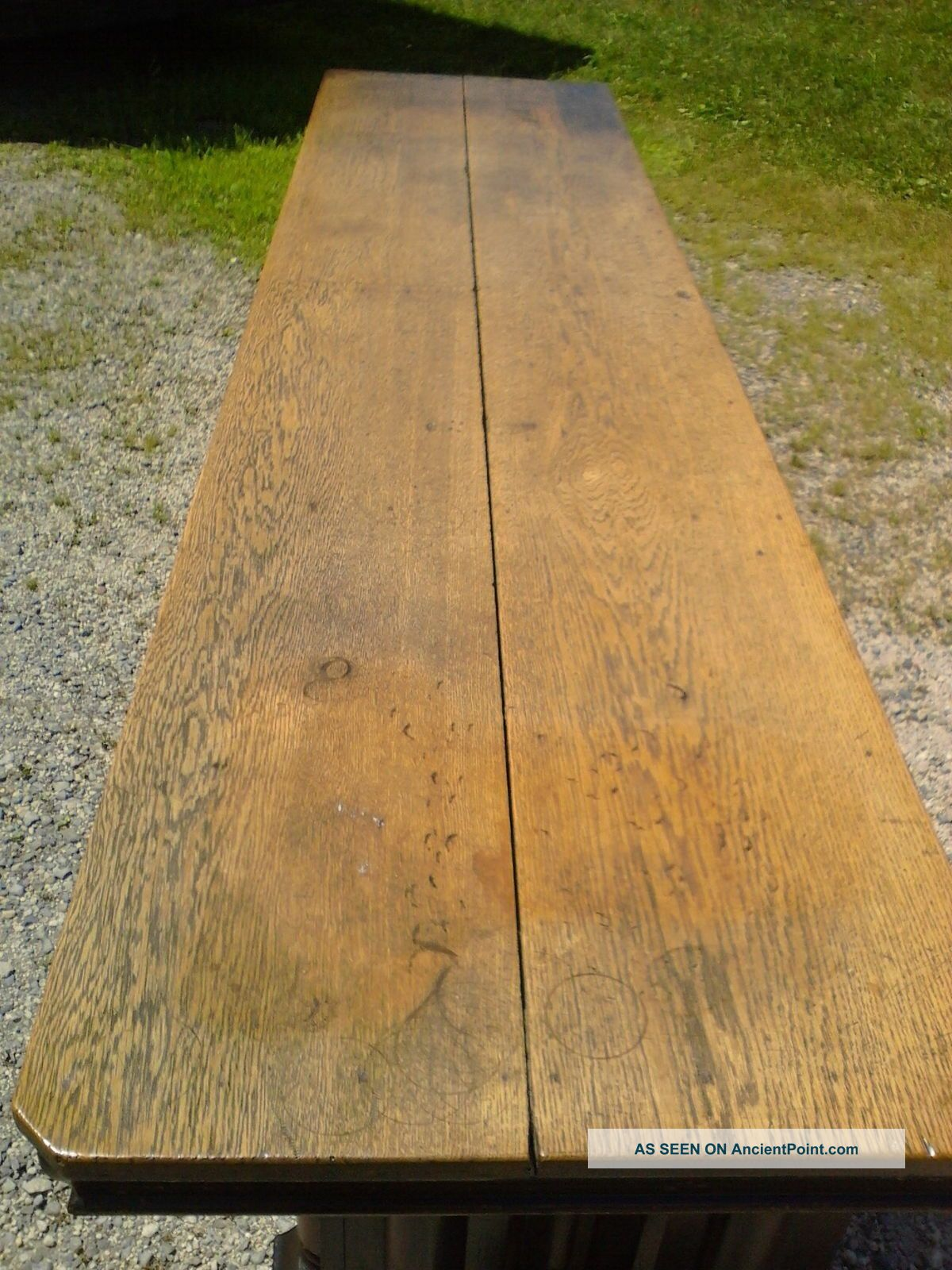 Vtg Oak Country Store Counter Hardware Clothing Tavern Front Bar