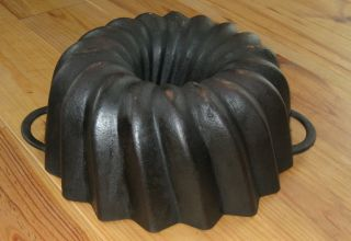 Very Rare Very Big Old Antique Cast Iron Bundt Pan Germany 3222 G photo