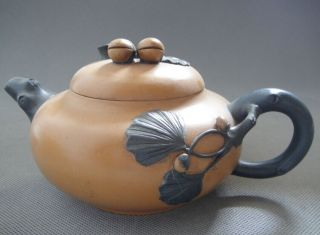 Old Pottery Good Craftsmanship Chinese Yixing Zisha Teapot 292g photo