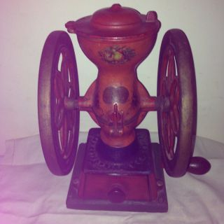 Antique Enterprise 2 Coffee Grinder Pat.  D 1873 Double Wheel photo