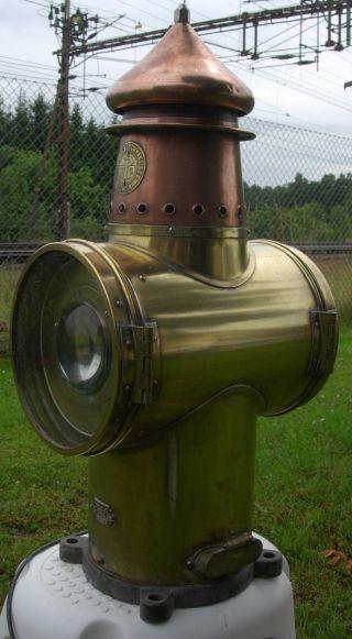 Antique Julius Pintsch Berlin (marine?) Lamp Searchlight photo