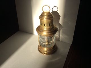 Vintage Perkins Marine Lamp And Hardware Corp - Perko Brass Lamp photo