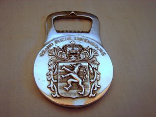 Old Christofle France Coll - Gallia Silver Grand Duche Luxembourg Bottle Opener photo