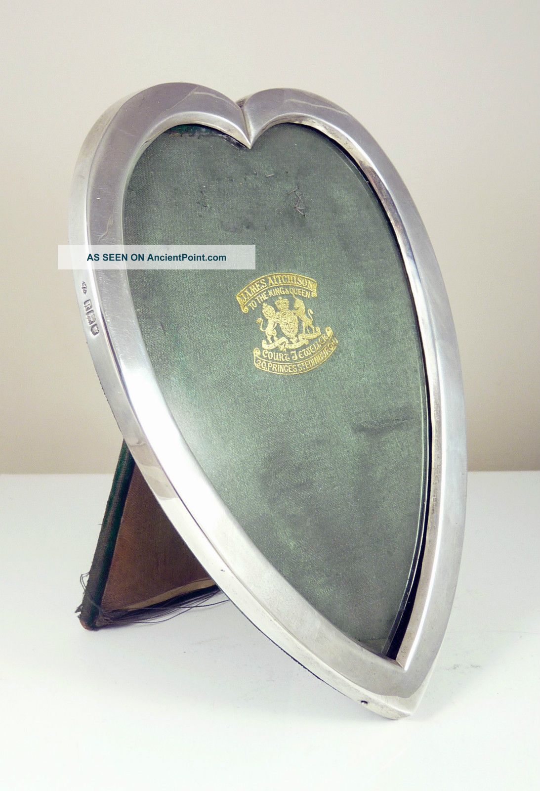Antique Solid Silver Heart Shaped Picture Photo Frame - 1905 Frames photo