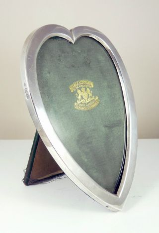 Antique Solid Silver Heart Shaped Picture Photo Frame - 1905 photo