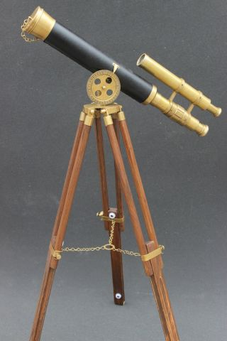 Designer Nautical Marine Royal Telescope Navy Antique Elegant Celebrity Shows photo