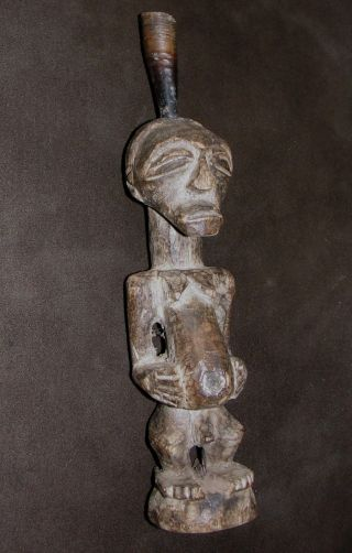 African Songye Kifwebe Very Old Statue Figure Africa Senufo Antique Tribal Congo photo