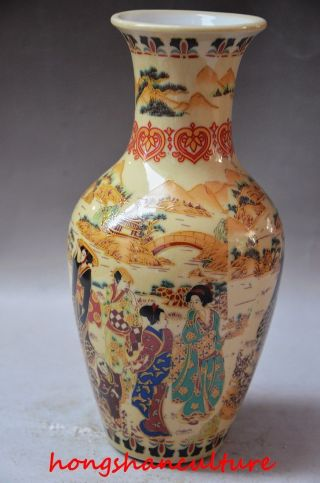 Old Handwork Jingdezhen Porcelain Painting Dowager Vase photo