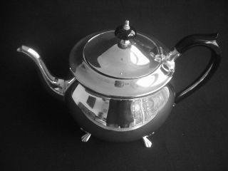 Vintage Silver Plated Teapot Yeoman Plate Stylish Classical Design photo
