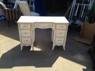 Vintage French Provincial Writing Desk Vanity photo