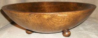Vintage Hand Carved Estate Wood Burl Bowl 11 1/2