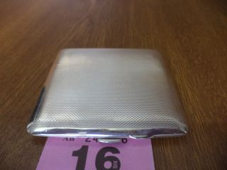 Vintage Solid Silver Cigarette Case - 1939 / Birmingham / S M Levi Ltd photo