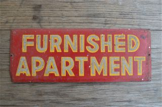 Lovely Decorative Antique Furnished Apartment Metal Wall Sign Bhm4 photo