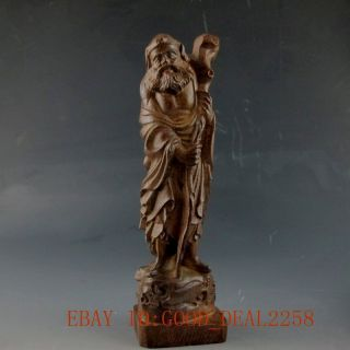 Chinese Chen Xiang Wood Hand - Carved Statue photo