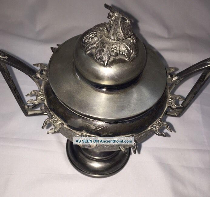 Victorian Moth Design Middletown Silver Plate Caviar Sugar Spooner Server Creamers & Sugar Bowls photo
