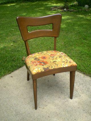 Vintage Mid - Century Modern Heywood Wakefield Dogbone Dining Chair photo