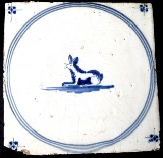 Antique Dutch Tile - Antieke Hollandse Tegel - Antike HollÄndische Fliese photo