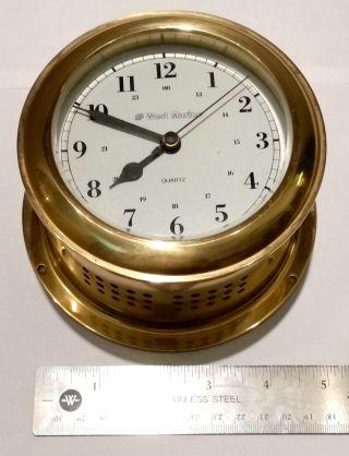 West Marine Weems & Plath Brass Ship Mariner ' S Clock Germany Mariner Nautical photo