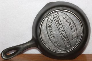 Vintage 1920 - 1950 Martin Stove & Range Florence Ala.  Cast Iron Skillet Alabama photo