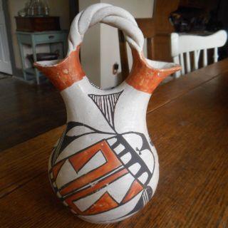 Vintage Native American - Wedding Vase - Acoma Pueblo Circa 1940 ' S Handmade photo