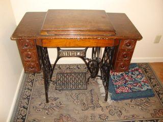 Antique Singer Treadle Sewing Machine photo