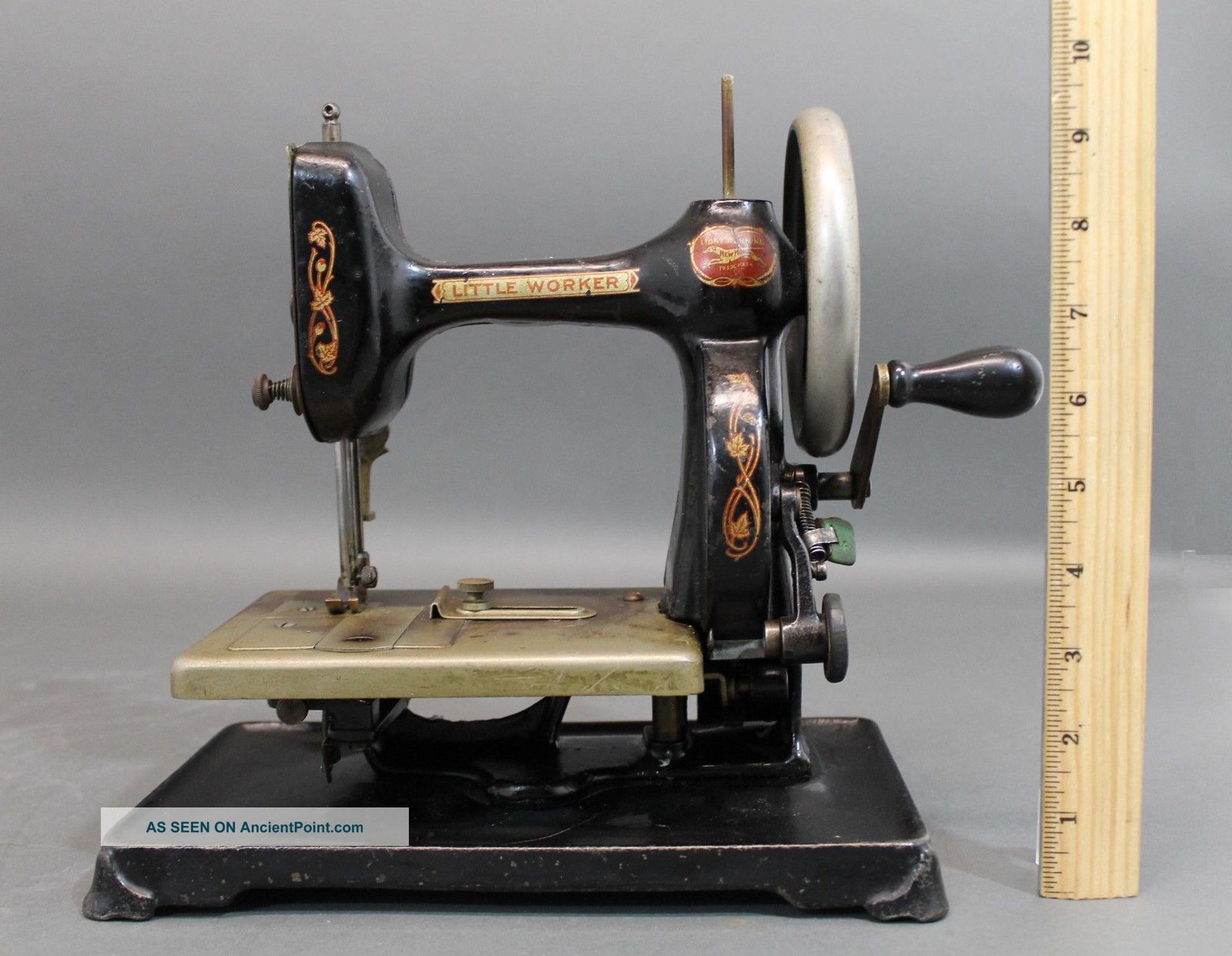 Antique Patd 1911,  Lttle Worker,  Home,  Cast Iron Sewing Machine,  Nr Sewing Machines photo