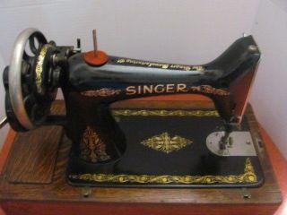 Antique 1911 Singer Hand Crank Sewing Machine F2585469 photo