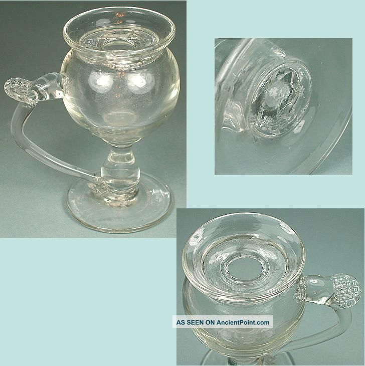 Antique Hand Blown Glass Lacemaker ' S Lamp English Circa 1850 Other Antique Sewing photo