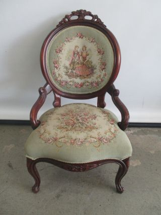 Antique Victorian Pelham Shell & Leckie Parlor Chair Accent Chair Solid Wood photo