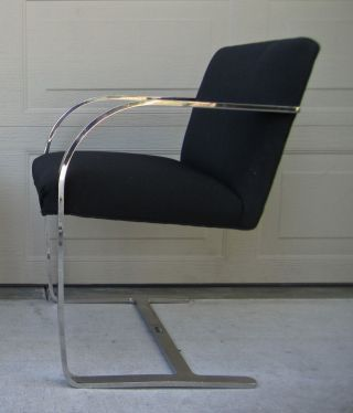 One Of 10 Available Knoll Brno Chairs Stainless Steel Mies Van Der Rohe photo