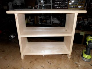 Unfinished Double Shoe Bench 24